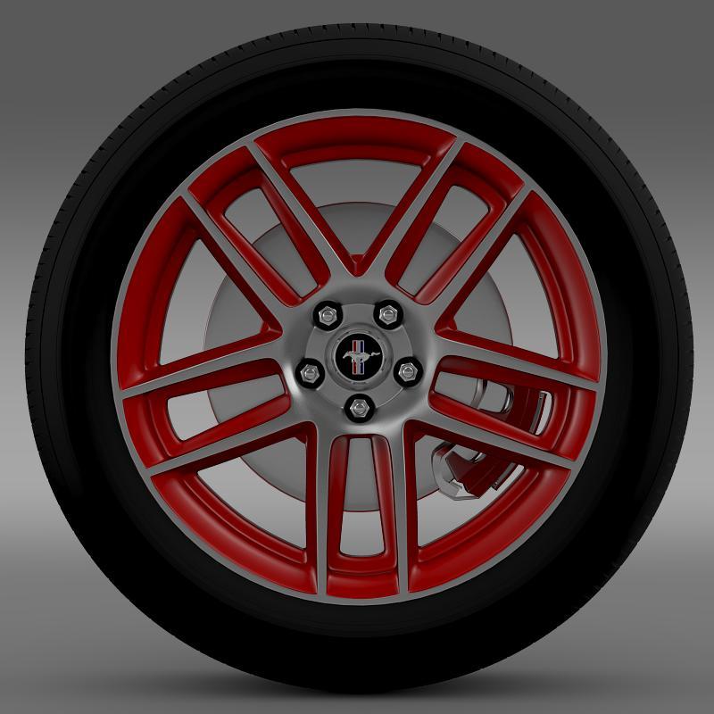 ford mustang boss 302 laguna seca 2012 wheel 3d model 3ds max fbx c4d lwo ma mb hrc xsi obj 139599