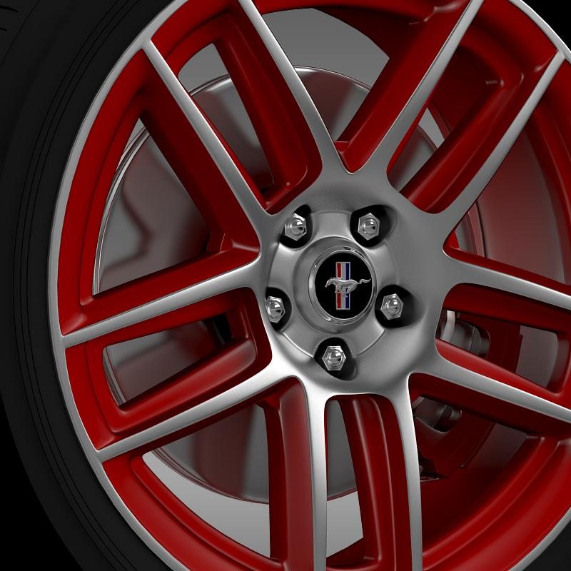 ford mustang boss 302 laguna seca 2012 wheel 3d model 3ds max fbx c4d lwo ma mb hrc xsi obj 139600