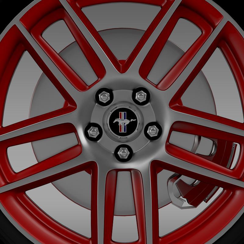 ford mustang boss 302 laguna seca 2012 wheel 3d model 3ds max fbx c4d lwo ma mb hrc xsi obj 139602