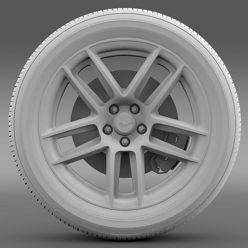 ford mustang boss 302 laguna seca 2012 wheel 3d model 3ds max fbx c4d lwo ma mb hrc xsi obj 139605