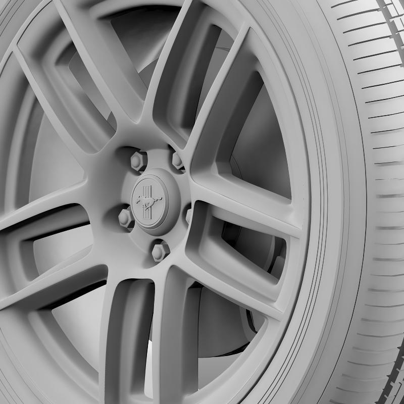 ford mustang boss 302 laguna seca 2012 wheel 3d model 3ds max fbx c4d lwo ma mb hrc xsi obj 139607