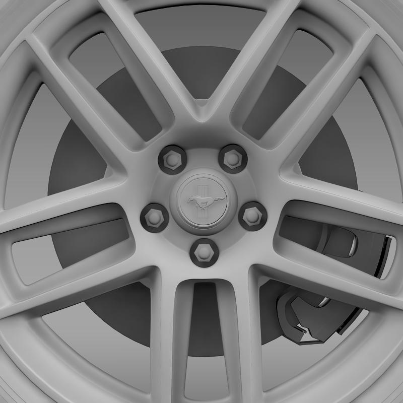 ford mustang boss 302 laguna seca 2012 wheel 3d model 3ds max fbx c4d lwo ma mb hrc xsi obj 139608