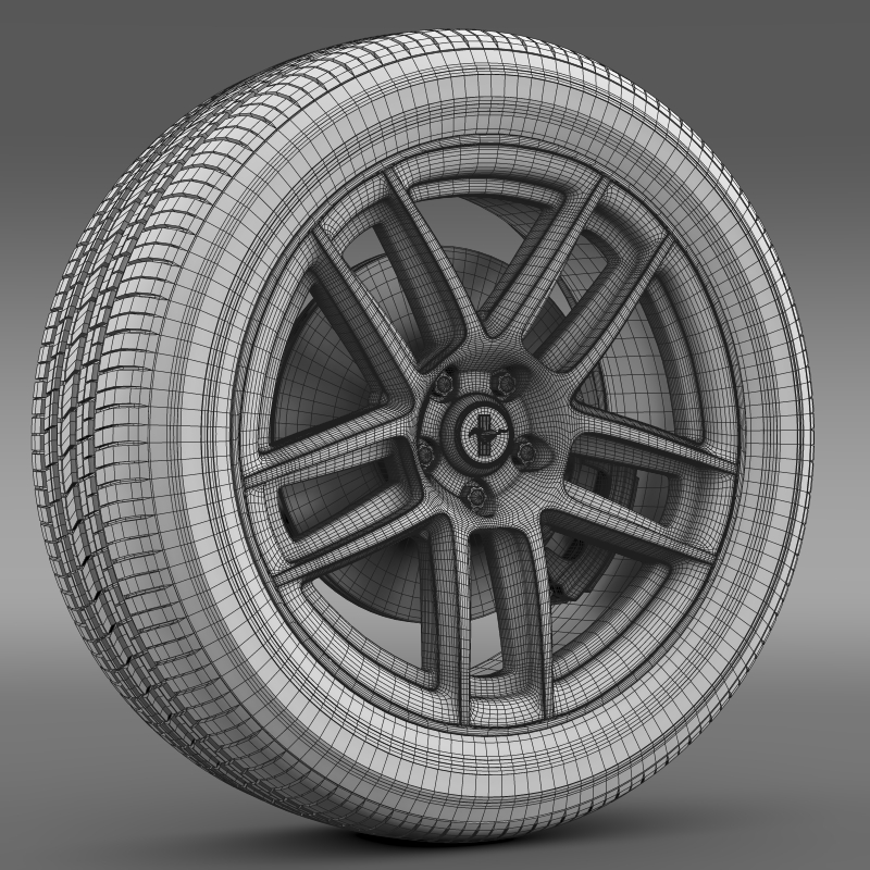 ford mustang boss 302 laguna seca 2012 wheel 3d model 3ds max fbx c4d lwo ma mb hrc xsi obj 139609