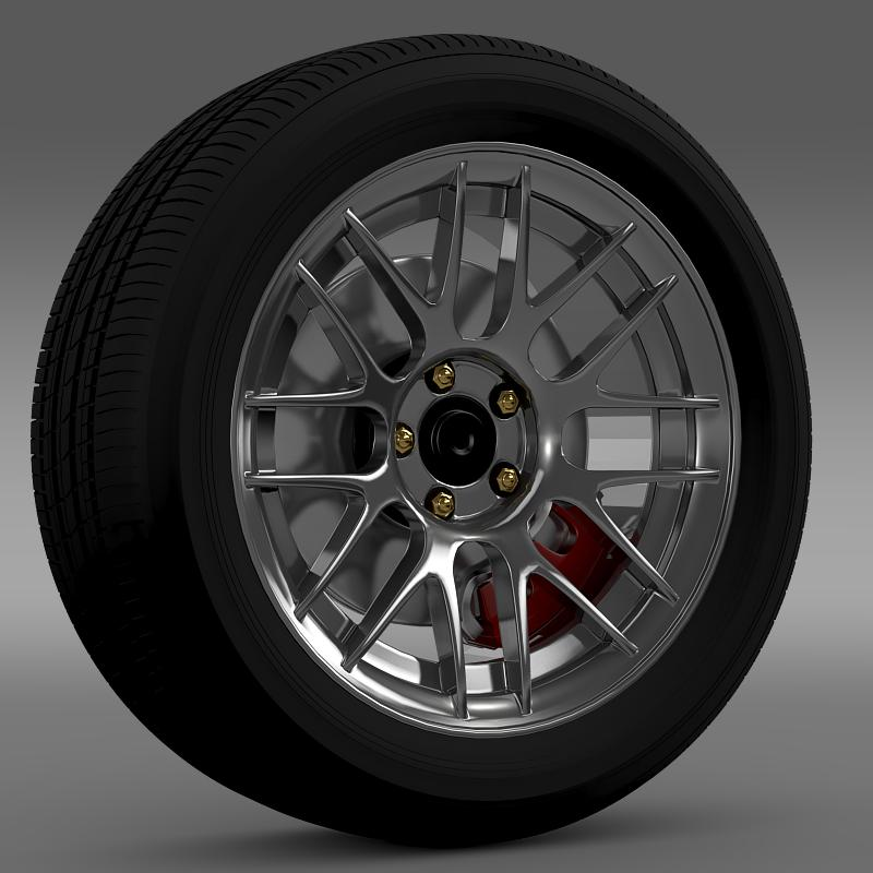 ford mustang boss 302r 2011 wheel 3d model 3ds max fbx c4d lwo ma mb hrc xsi obj 139610