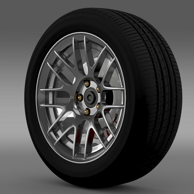 ford mustang boss 302r 2011 wheel 3d model 3ds max fbx c4d lwo ma mb hrc xsi obj 139611