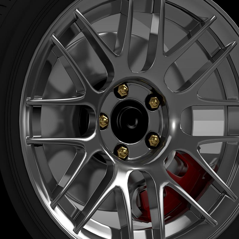 ford mustang boss 302r 2011 wheel 3d model 3ds max fbx c4d lwo ma mb hrc xsi obj 139613