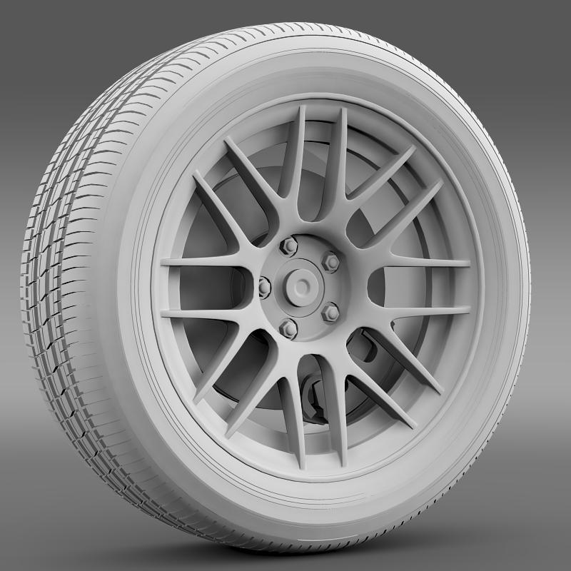 ford mustang boss 302r 2011 wheel 3d model 3ds max fbx c4d lwo ma mb hrc xsi obj 139616