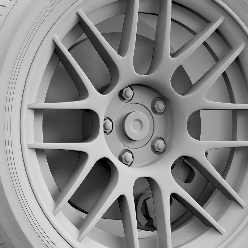 ford mustang boss 302r 2011 wheel 3d model 3ds max fbx c4d lwo ma mb hrc xsi obj 139619