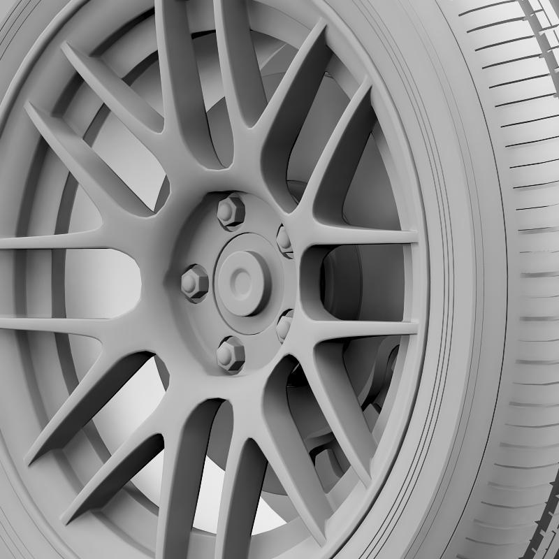 ford mustang boss 302r 2011 wheel 3d model 3ds max fbx c4d lwo ma mb hrc xsi obj 139620