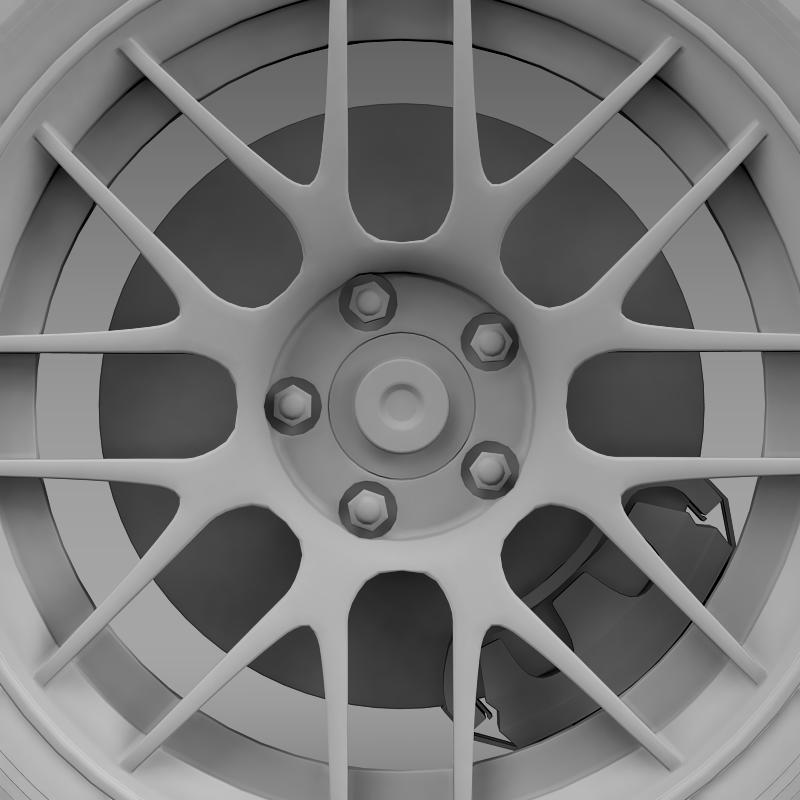 ford mustang boss 302r 2011 wheel 3d model 3ds max fbx c4d lwo ma mb hrc xsi obj 139621