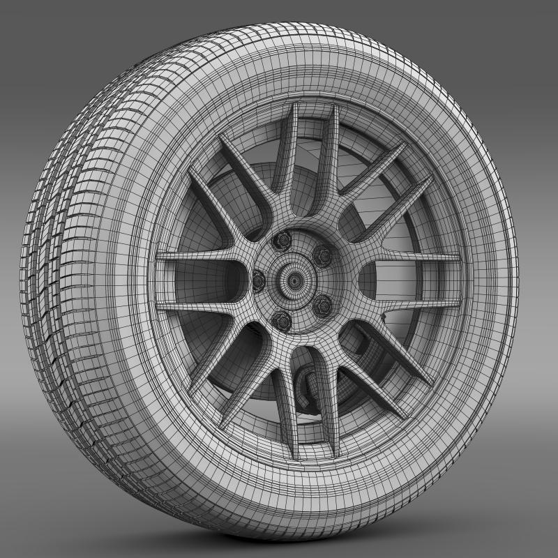 ford mustang boss 302r 2011 wheel 3d model 3ds max fbx c4d lwo ma mb hrc xsi obj 139622