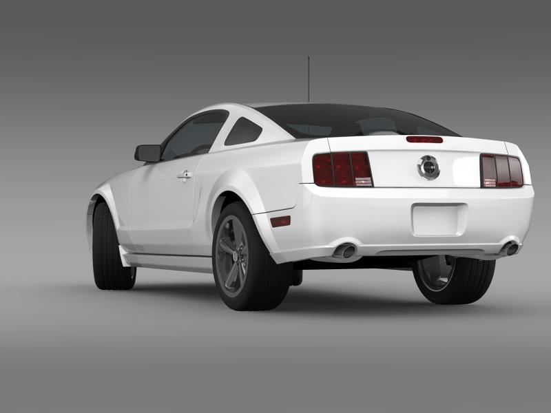 Ford mustang bullit 2008 3d modell 3ds max fbx c4d lwo ma mb hrc xsi objektum 143176