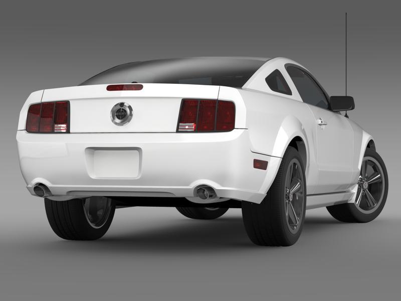 Ford mustang bullit 2008 3d modell 3ds max fbx c4d lwo ma mb hrc xsi objektum 143177