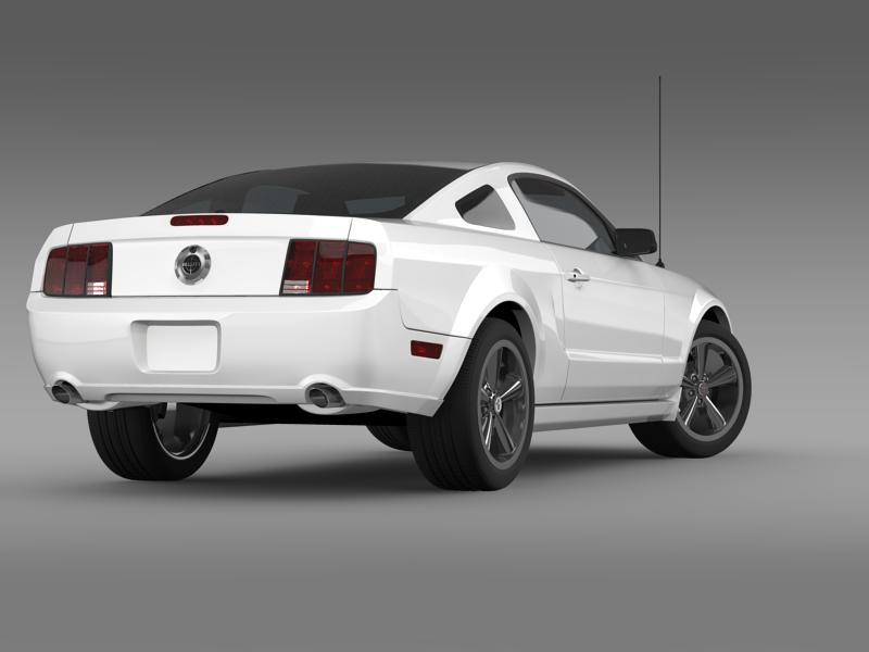 Ford mustang bullit 2008 3d modell 3ds max fbx c4d lwo ma mb hrc xsi objektum 143178