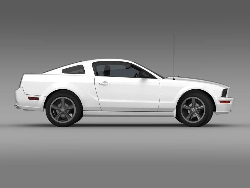 Ford mustang bullit 2008 3d modell 3ds max fbx c4d lwo ma mb hrc xsi objektum 143180
