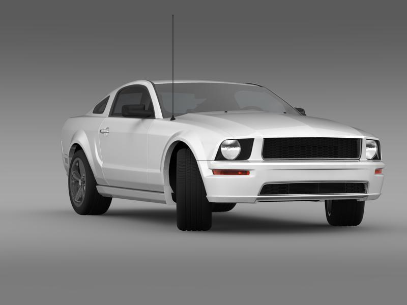 Ford mustang bullit 2008 3d modell 3ds max fbx c4d lwo ma mb hrc xsi objektum 143182