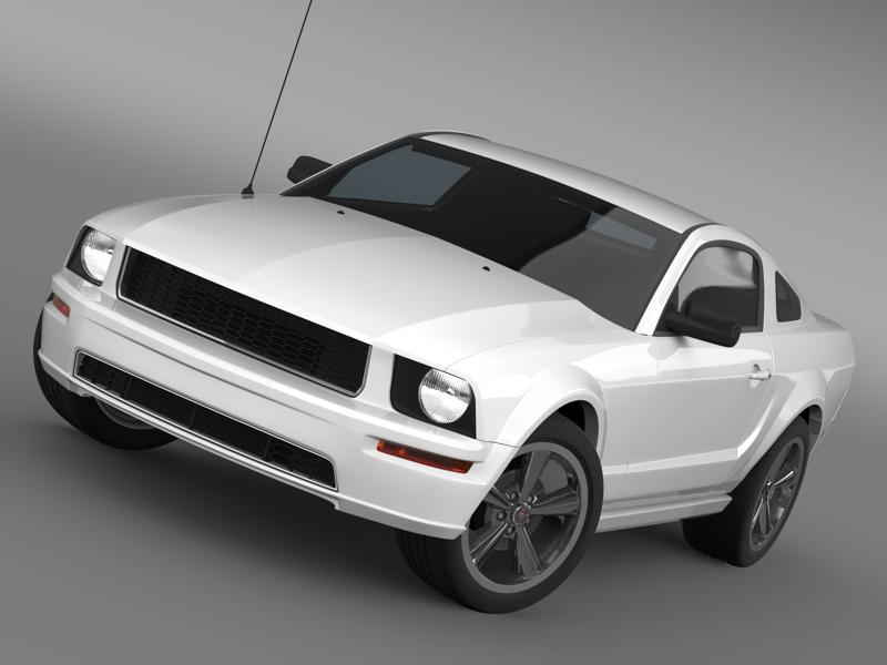 Ford mustang bullit 2008 3d modell 3ds max fbx c4d lwo ma mb hrc xsi objektum 143183