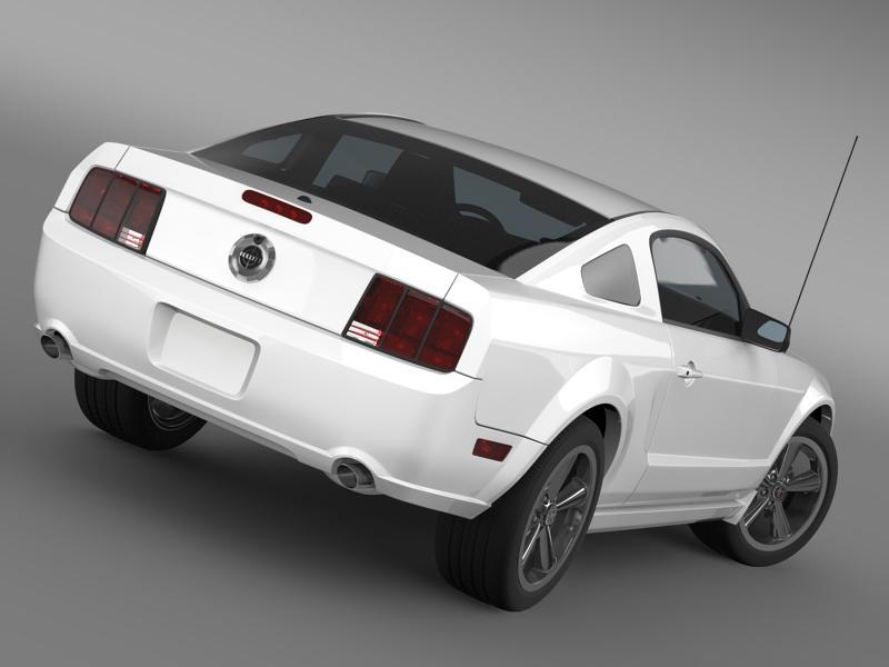 Ford mustang bullit 2008 3d modell 3ds max fbx c4d lwo ma mb hrc xsi objektum 143184