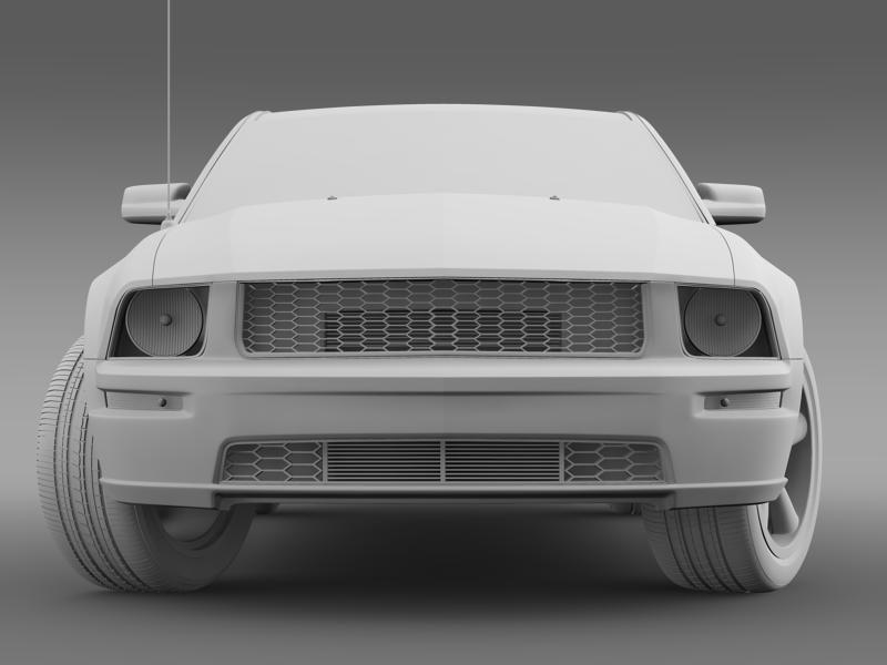 Ford mustang bullit 2008 3d modell 3ds max fbx c4d lwo ma mb hrc xsi objektum 143185
