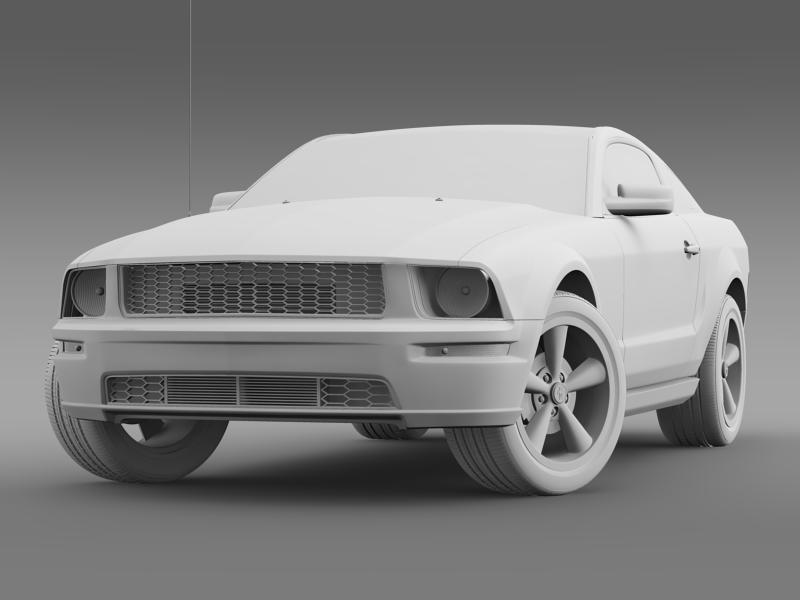 Ford mustang bullit 2008 3d modell 3ds max fbx c4d lwo ma mb hrc xsi objektum 143186