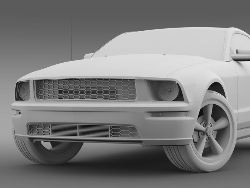 Ford mustang bullit 2008 3d modell 3ds max fbx c4d lwo ma mb hrc xsi objektum 143187