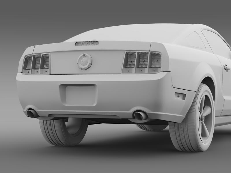 Ford mustang bullit 2008 3d modell 3ds max fbx c4d lwo ma mb hrc xsi objektum 143188