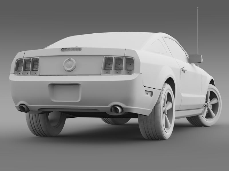 Ford mustang bullit 2008 3d modell 3ds max fbx c4d lwo ma mb hrc xsi objektum 143189
