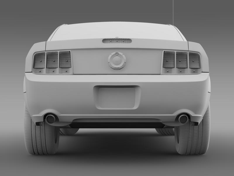 Ford mustang bullit 2008 3d modell 3ds max fbx c4d lwo ma mb hrc xsi objektum 143190