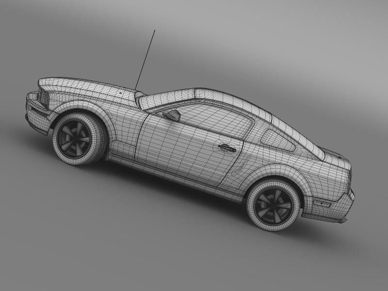 Ford mustang bullit 2008 3d modell 3ds max fbx c4d lwo ma mb hrc xsi objektum 143192