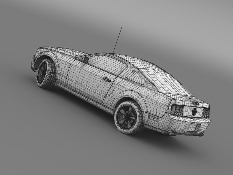 Ford mustang bullit 2008 3d modell 3ds max fbx c4d lwo ma mb hrc xsi objektum 143193