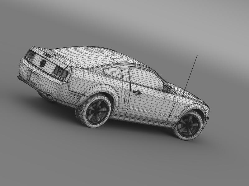 Ford mustang bullit 2008 3d modell 3ds max fbx c4d lwo ma mb hrc xsi objektum 143194