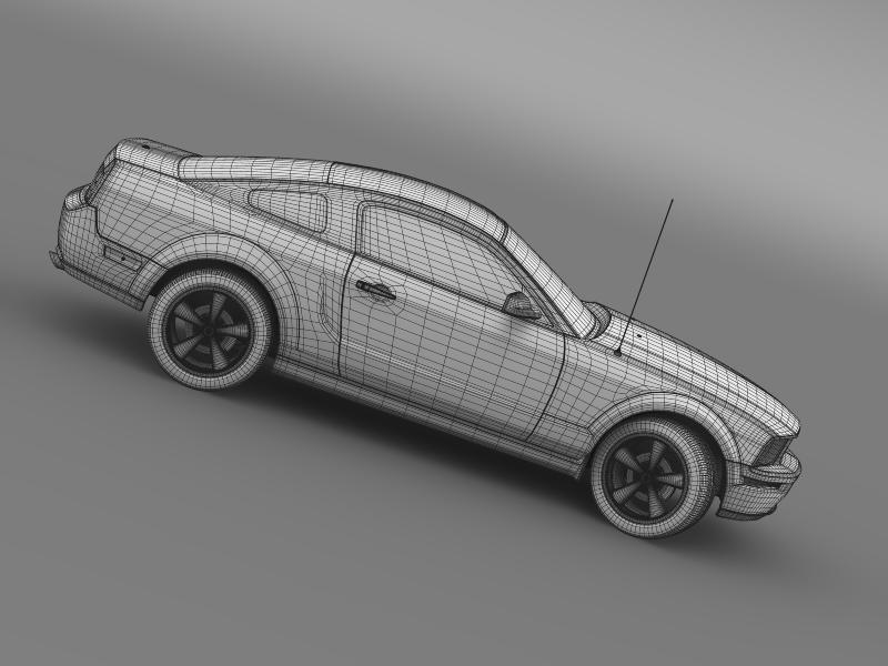 Ford mustang bullit 2008 3d modell 3ds max fbx c4d lwo ma mb hrc xsi objektum 143195