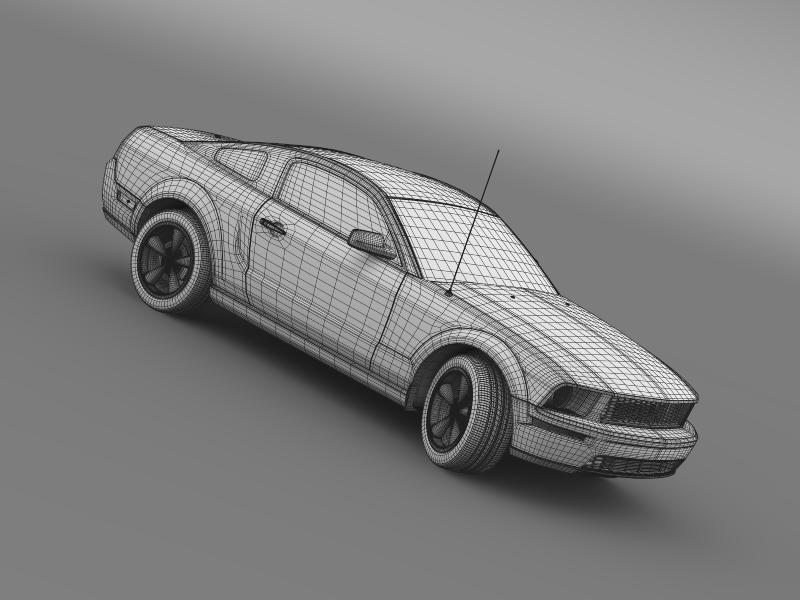 Ford mustang bullit 2008 3d modell 3ds max fbx c4d lwo ma mb hrc xsi objektum 143196