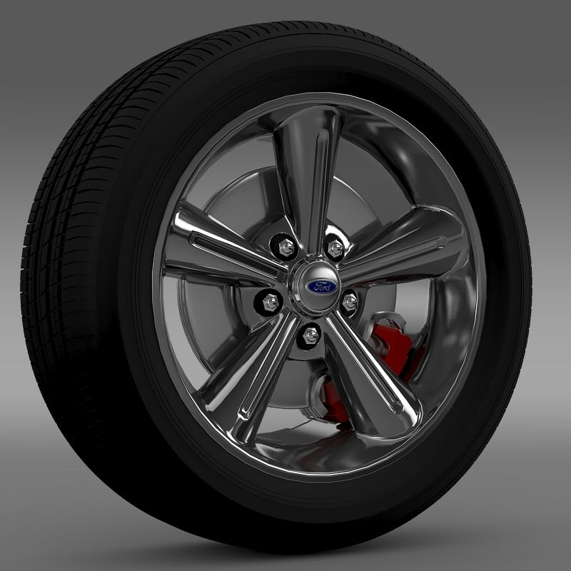 ford mustang convertible 2010 wheel 3d model 3ds max fbx c4d lwo ma mb hrc xsi obj 139623