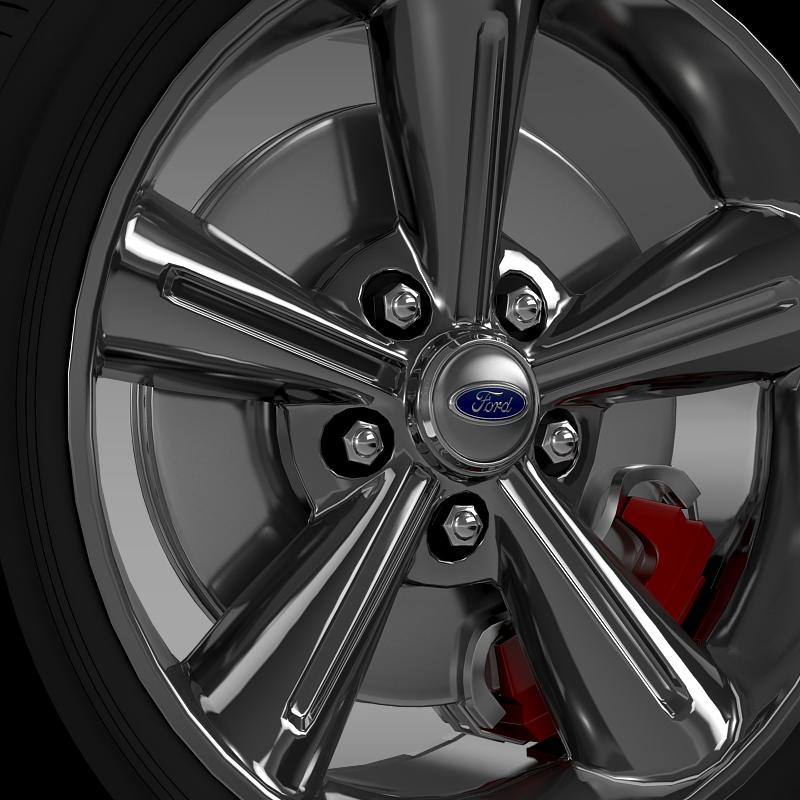 ford mustang convertible 2010 wheel 3d model 3ds max fbx c4d lwo ma mb hrc xsi obj 139626