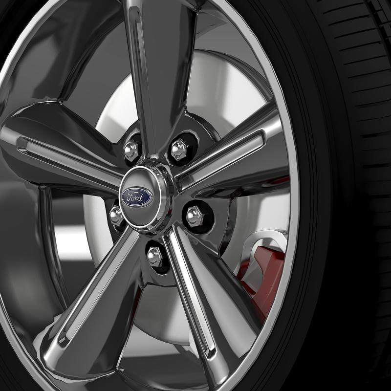 ford mustang convertible 2010 wheel 3d model 3ds max fbx c4d lwo ma mb hrc xsi obj 139627
