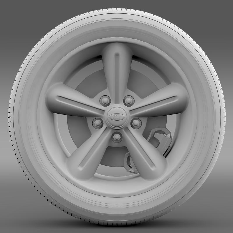ford mustang convertible 2010 wheel 3d model 3ds max fbx c4d lwo ma mb hrc xsi obj 139631