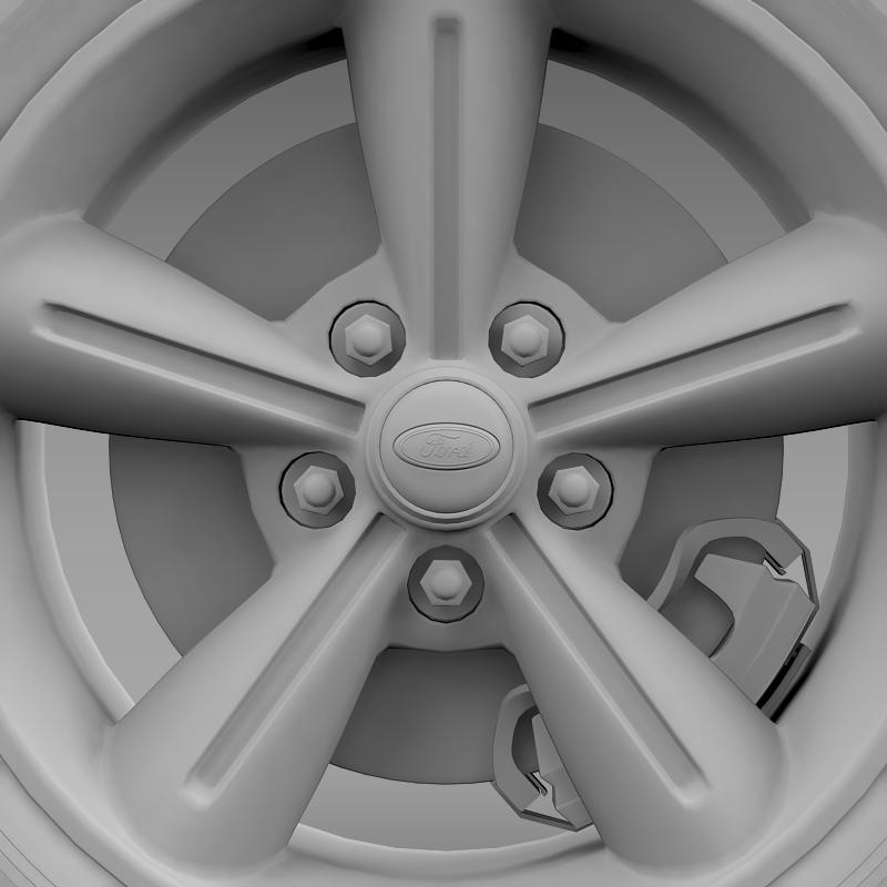 ford mustang convertible 2010 wheel 3d model 3ds max fbx c4d lwo ma mb hrc xsi obj 139634