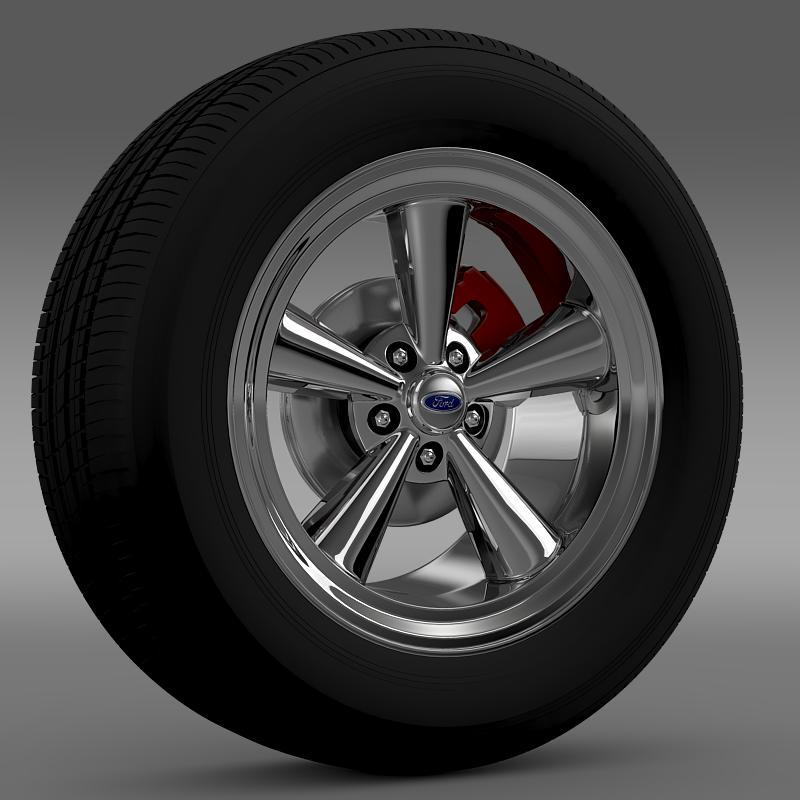 ford mustang gt 2006 wheel 3d model 3ds max fbx c4d lwo ma mb hrc xsi obj 139636