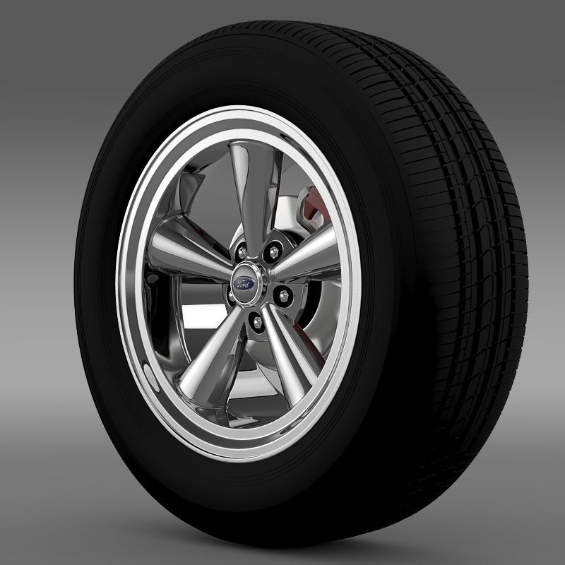 ford mustang gt 2006 wheel 3d model 3ds max fbx c4d lwo ma mb hrc xsi obj 139637