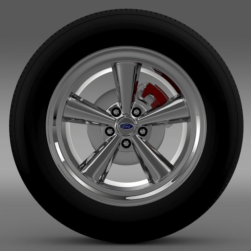 ford mustang gt 2006 wheel 3d model 3ds max fbx c4d lwo ma mb hrc xsi obj 139638