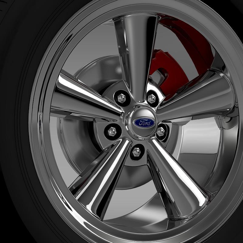 ford mustang gt 2006 wheel 3d model 3ds max fbx c4d lwo ma mb hrc xsi obj 139639