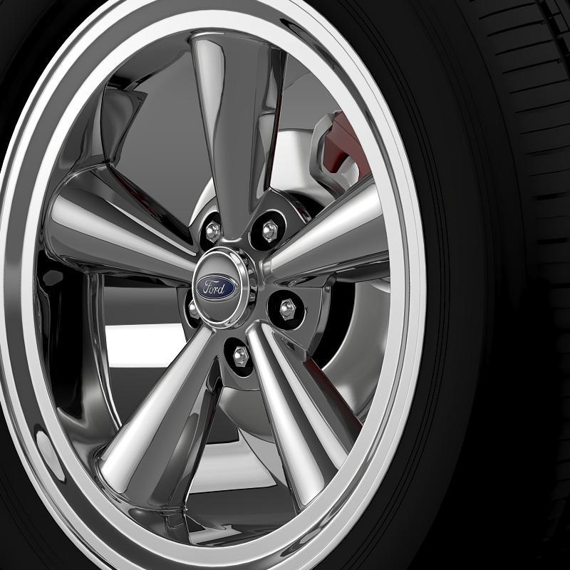 ford mustang gt 2006 wheel 3d model 3ds max fbx c4d lwo ma mb hrc xsi obj 139640