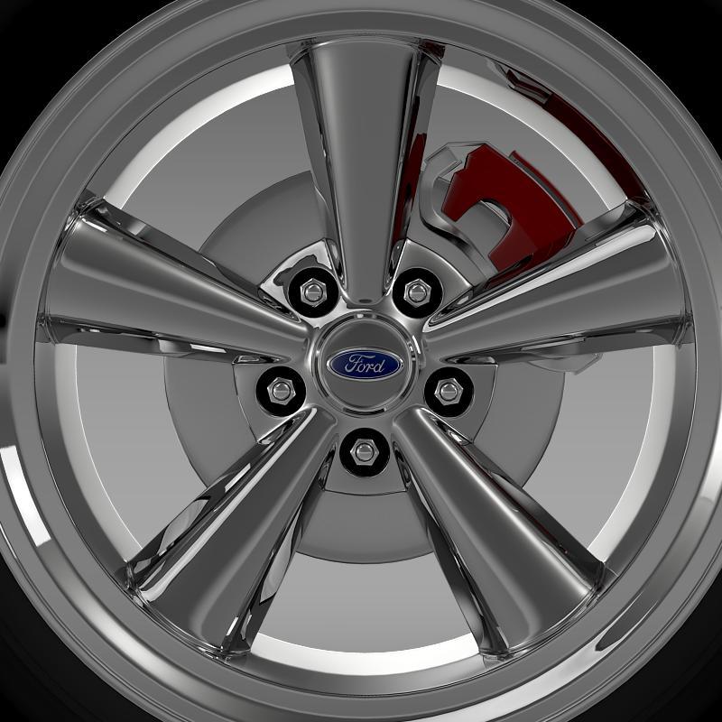 ford mustang gt 2006 wheel 3d model 3ds max fbx c4d lwo ma mb hrc xsi obj 139641