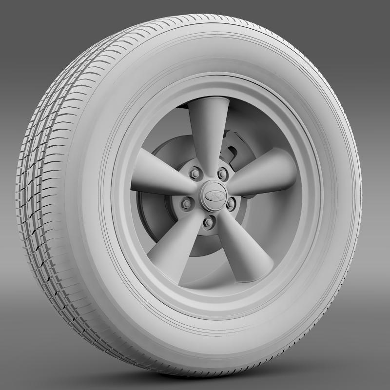 ford mustang gt 2006 wheel 3d model 3ds max fbx c4d lwo ma mb hrc xsi obj 139642