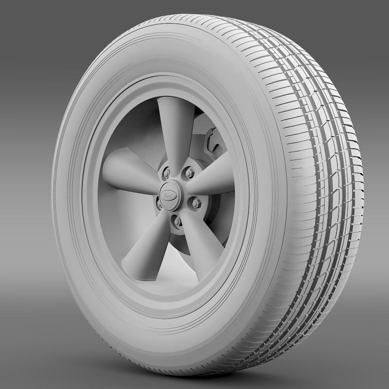ford mustang gt 2006 wheel 3d model 3ds max fbx c4d lwo ma mb hrc xsi obj 139643