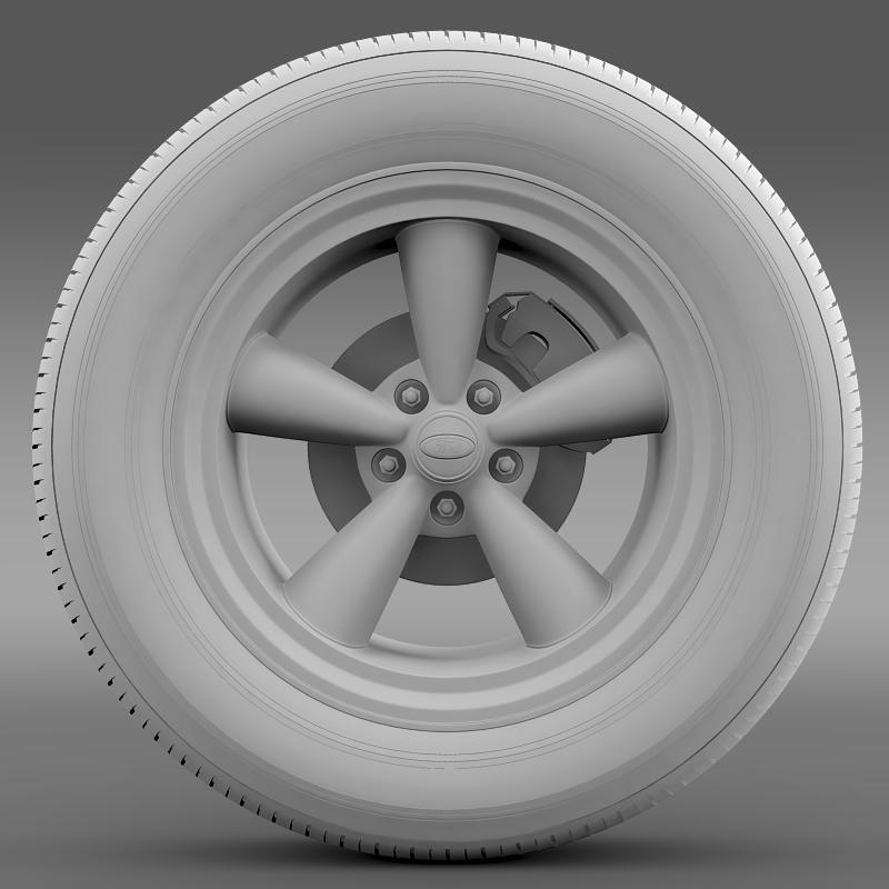 ford mustang gt 2006 wheel 3d model 3ds max fbx c4d lwo ma mb hrc xsi obj 139644