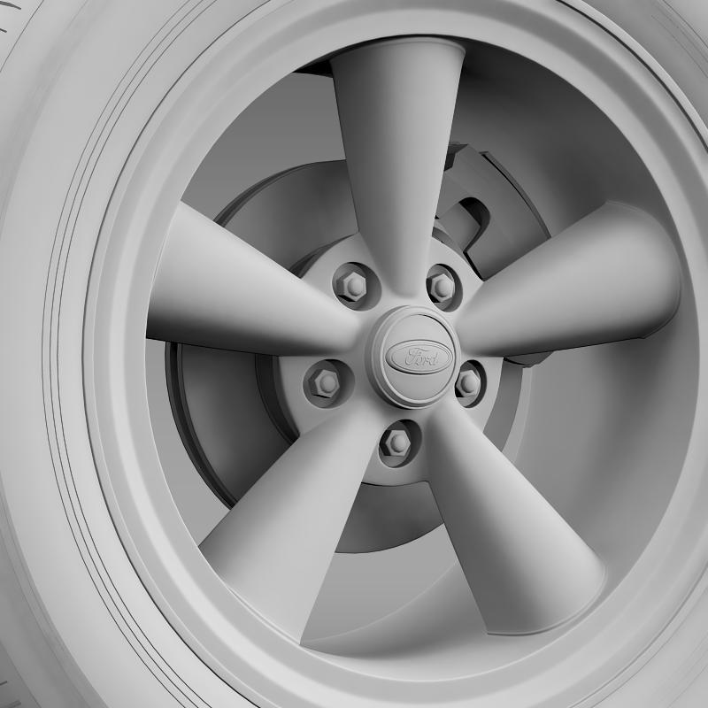 ford mustang gt 2006 wheel 3d model 3ds max fbx c4d lwo ma mb hrc xsi obj 139645