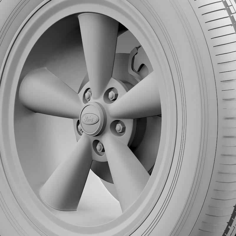 ford mustang gt 2006 wheel 3d model 3ds max fbx c4d lwo ma mb hrc xsi obj 139646