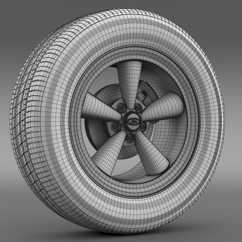 ford mustang gt 2006 wheel 3d model 3ds max fbx c4d lwo ma mb hrc xsi obj 139648